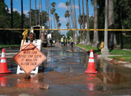 Water mains continue to  rupture during drought