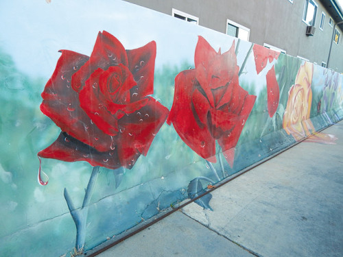 Councilman Mitch O'Farrell, 13th District, cited a mural painted on two walls at a gas station at Los Feliz Boulevard and Hillhurst Avenue as an example of projects that could be funded under the Arts Activation program. (photo by Edwin Folven)
