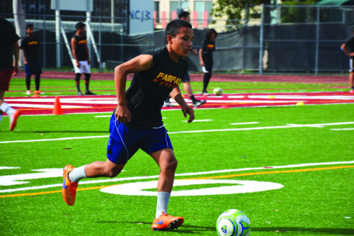 Coach Salvador Rosales is a hands-on coach who instills hard work and dedication in his team.