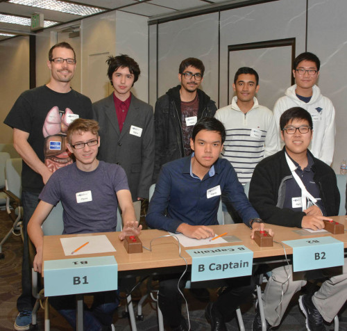 Students from Pilgrim High School competed in the National Science Bowl on Saturday, Feb. 20. The team won two matches and participated in a physics challenge. (photo by Patricia Sanchez)