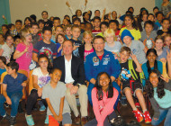 Astronaut touches down at Gardner Elementary
