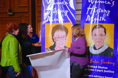 Connie Norman, a transgender activist, and Ruth Bader Ginsburg, U.S. Supreme Court Justice, were chosen by the board to be honored with banners that will be displayed along Santa Monica Boulevard. (photo by Patricia Sanchez)