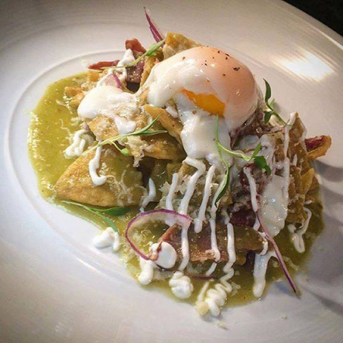 The chilaquiles are a great reason to have lunch at BOA on Mondays - it's the only day they are served. (photo courtesy of BOA Steakhouse)