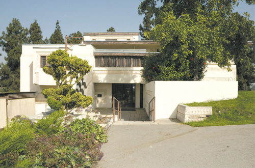 The Frank Lloyd Wright-designed guesthouse, known as Residence A, will be restored to its original grandeur in Barnsdall Art Park. (photo courtesy of the 13th Council District Office)