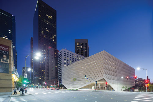 The Broad contemporary art museum was celebrated for its eco-friendly design. (photo courtesy of The Broad)