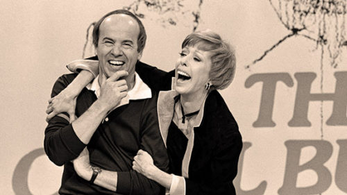 "Comedy icons Tim Conway and Carol Burnett teamed up for thousands of laughs during the nearly dozen year run of ""the Carol Burnett Show."" (photo courtesy of CBS TV City)"