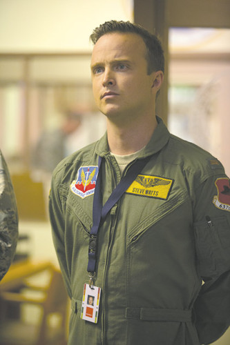 "Aaron Paul portrays drone pilot Steve Watt, who is charting new territory in ""Eye in the Sky."" (photo courtesy of Entertainment One)"