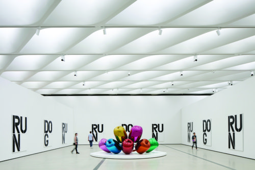 "(photo by Bruce Damonte) Jeff Koons' ""Tulips"""