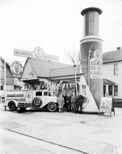 (Gilmore Oil had service stations throughout the West Coast selling its Gilmore Gasoline.)