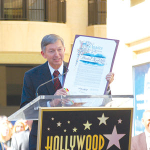 Hollywood Chamber of Commerce president and CEO Leron Gubler has represented business interests in Hollywood, but once said that one of his favorite parts of the job is emceeing star ceremonies on the Walk of Fame.