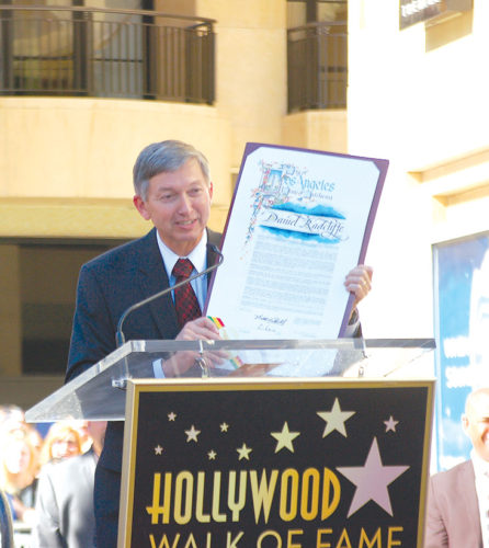 Hollywood Chamber of Commerce president and CEO Leron Gubler represents business interests in Hollywood, but said his one of his favorite parts of the job is emceeing star ceremonies on the Walk of Fame.