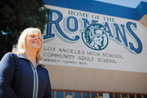 Harrison Trust's Joyce Kleifield builds bridges between the community and L.A. High School. (photo courtesy of Joyce Kleifield)