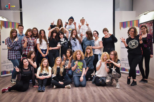 Students participated in the KPOPAcademy held in Warsaw, Poland earlier this year. The academy brings the Korean pop music genre to Los Angeles during the month of June. Applications now being accepted. (photo courtesy of KPOP Warsaw)