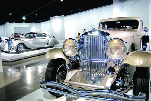 The silver 1993 Duesenberg at the Petersen is part of the visitor-favorite Precious Metal display – an exhibit valued at more than $120 million. (photo by Gregory Cornfield)