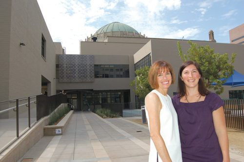 Carol Bovill, director of Wilshire Boulevard Temple's Early Childhood Center, and Gillian Feldman, principal of Brawerman Elementary School East, lead the temple's educational programs. (photo by Edwin Folven)