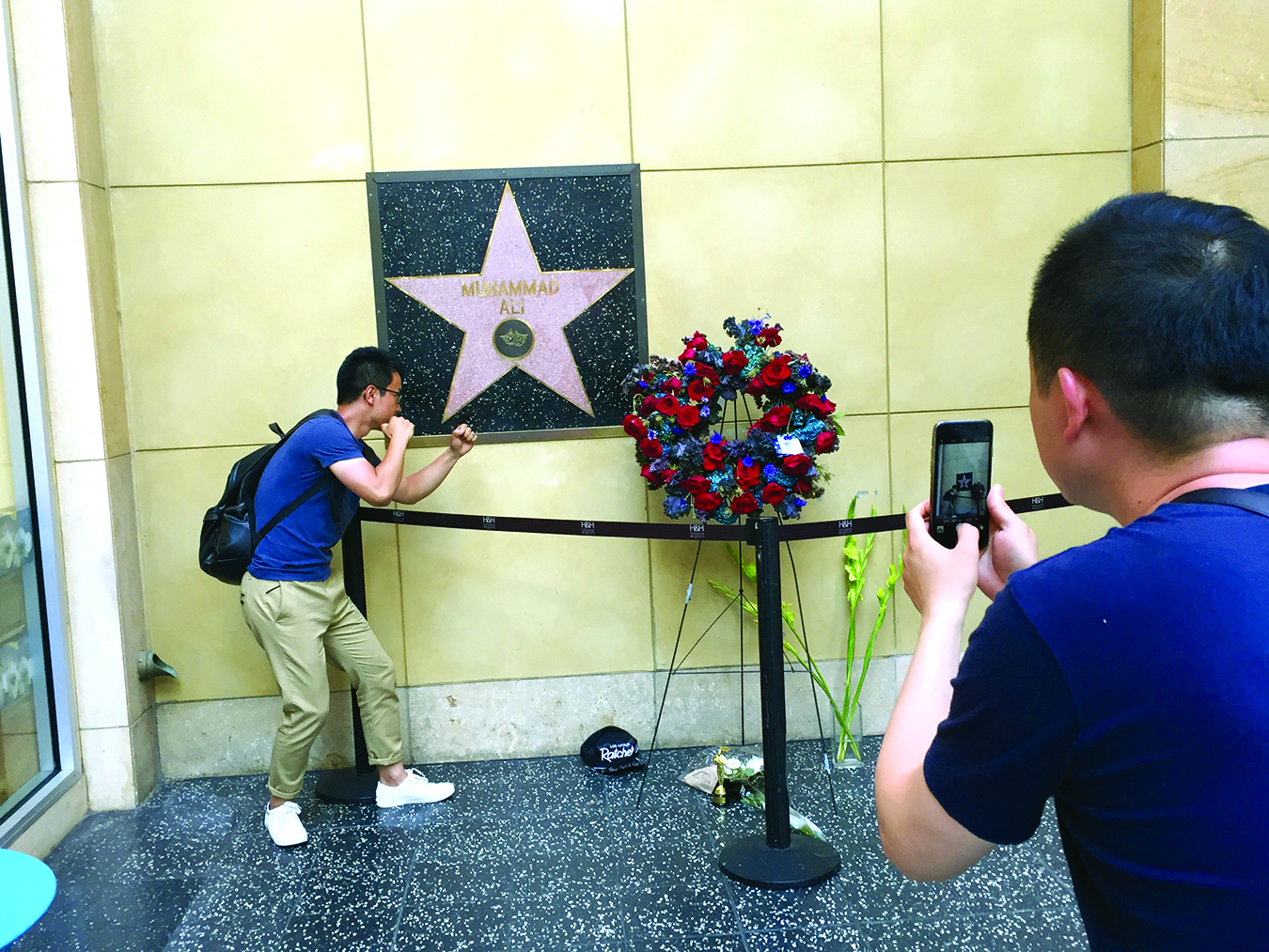 timeless design ecf78 f5f30 Thousands of visitors from around the world visited Muhammad Ali s star –  the only one to