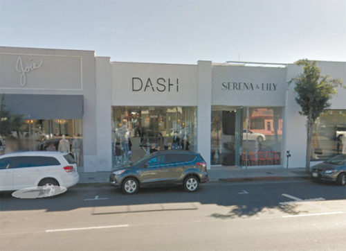 A suspect threw an incendiary device into the DASH store on Melrose Avenue. The device did not fully ignite and damage was minimal. (photo courtesy of Google Maps)