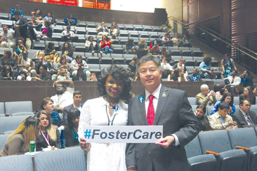 Congressman Ted Lieu welcomed young constituents during Foster Youth Shadow Day. (photo courtesy of Congressman Ted Lieu's Office)