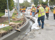 Concrete street repairs take form in Hancock Park