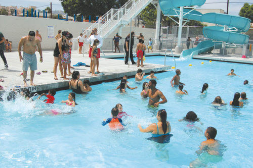 The Hollywood pool underwent extensive renovations last summer. (photo by Edwin Folven)