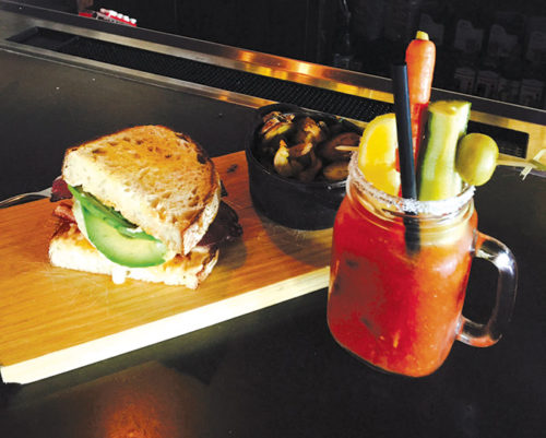 The House ABC egg sandwich is quintessential brunch fare at Manhattan House. Be sure to pair it with a bloody Mary. (photo by Jill Weinlein)