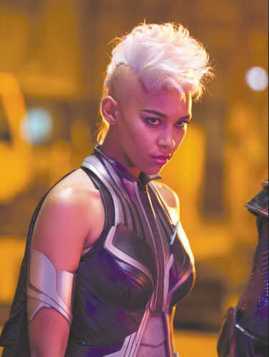 "Alexandra Shipp stars as Ororo Munroe/Storm in ""X-Men"" Apocalypse, an exciting story sure to spark many spinoffs. (photo by Alan Markfield/TM and © Marvel and Subs./TM and © Twentieth Century Film Corporation)"