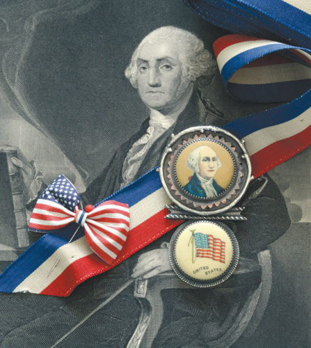 "Roberta and David Williamson's ""George Washington brooch"" (2016) will be included in the exhibit at the Craft in America Center. (photo courtesy of the Craft in America Center)"