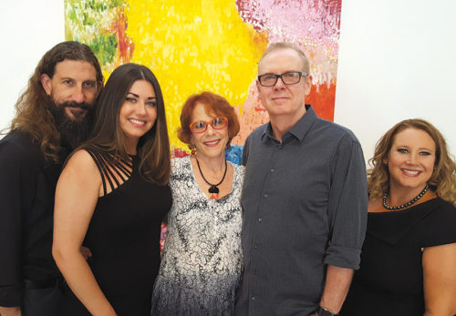 Pictured at a recent event announcing the foundation's formation are Davyd Whaley Foundation board members Nick Brown (left) and Kristan Bonde, director Ellie Blankfort, founder and executive director Norman Buckley, and foundation manager Anitra Kyees. (photo by cmcampbell)
