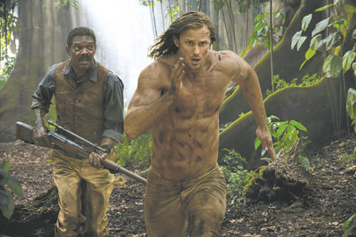 Alexander Skarsgård stars as Tarzan, and Samuel L. Jackson spears as George Washington Williams in the latest adaption of the legendary tale. (photo courtesy of Warner Bros. Pictures)