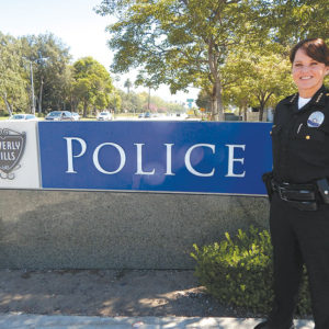 Beverly Hills Police Chief Sandra Spagnoli has led the department since March. She is focusing on community outreach and encouraged members of the public to get involved in crime prevention and public safety. (photo by Edwin Folven)