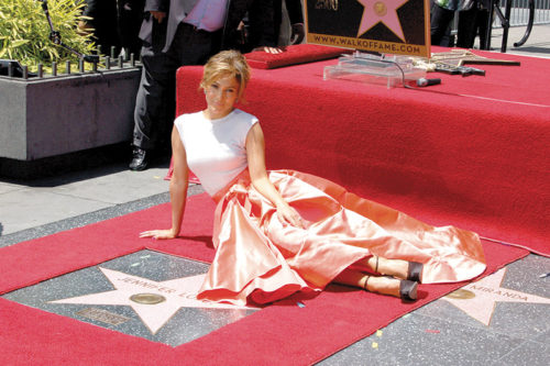 Actress and singer Jennifer Lopez received the 2,500th star on the Hollywood Walk of Fame in 2013 in front of the W Hotel. (photo by Arron Blevins)