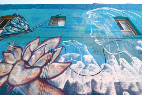"""Noah Neighbor's """"Flora Flora"""" is featured at 225 N.Western Ave. (photo courtesy of the 4th District Council Office)"""