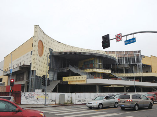 The Target store remains unfinished at the corner of Sunset Boulevard and Western Avenue while legal challenges remain unresolved. (photo by Edwin Folven)