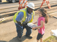 Local girl thanks LADWP crew with brownies