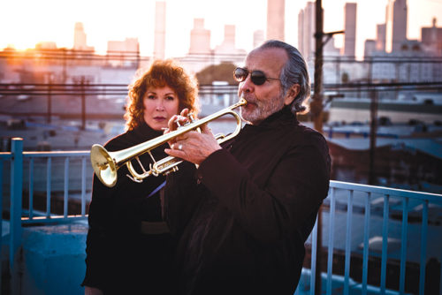 Trumpeter Herb Alpert and his wife Lani Hall donated $10 million to the L.A. City College music department, that will provide all music majors at the school with a tuition-free education. (photo by Andreas Neumann)