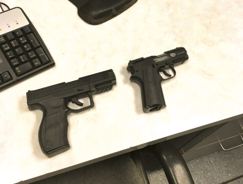 The suspects in the Hollywood robbery used Airsoft pistols, which are toys that closely resemble real guns. (photo courtesy of LAPD)