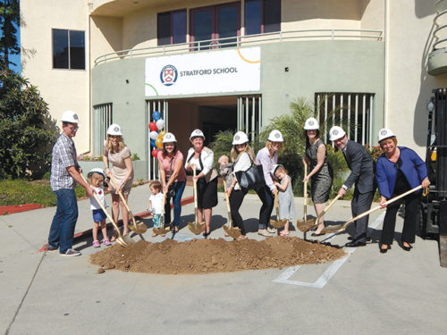 Stratford School held a groundbreaking in April for the Melrose campus on Cahuenga Blvd. (photo by Edwin Folven)