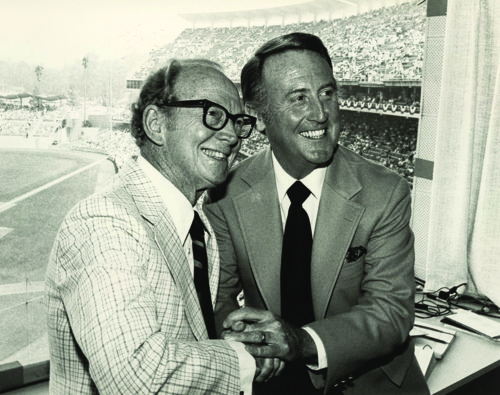"""Walter """"Red"""" Barber hired Vin Scully and invited him to join the Dodgers in 1950. Scully said Barber was his mentor, and he uses the advice he received to this day. (courtesy of the Los Angeles Dodgers)"""