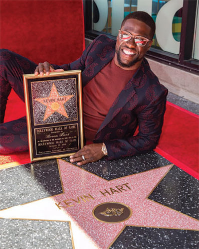 Comedian Kevin Hart received a star on the Hollywood Walk of Fame in the Live Performance category. (photo courtesy of Kevin Hart's Instagram)