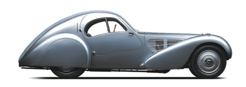 A Bugatti Type 57SC Atlantic is included in the exhibit at the Petersen Automotive Museum. (photo courtesy of Kahn Media)