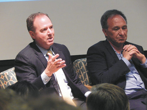 Congressman Adam Schiff held a town hall meeting on gun violence in August to hear ideas about the issue from constituents and to outline his viewpoints about the problem. (photo by Edwin Folven)