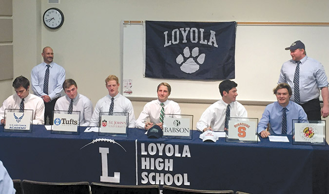 Loyola Seniors Show Their Intent To Play College Sports