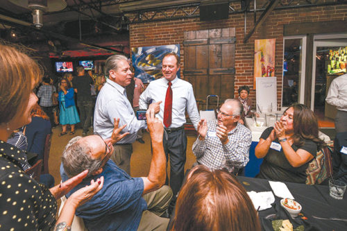 Congressman Adam Schiff thanked supporters at an election party on Tuesday. He vowed to continue progress on international and local issues. (photo courtesy of Congressman Adam Schiff's Office)