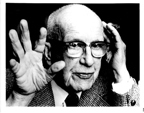 Architect and inventor Richard Buckminster Fuller is the focus of a live performance at the Skirball Cultural Center. (Photo courtesy of Stanford University Libraries and The Estate of R. Buckminster Fuller)