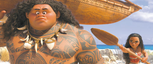 """Maui and Moana are the central characters in """"Moana,"""" a new Disney film about the adventures of a princess from Hawaii. (photo courtesy of Walt Disney Pictures)"""