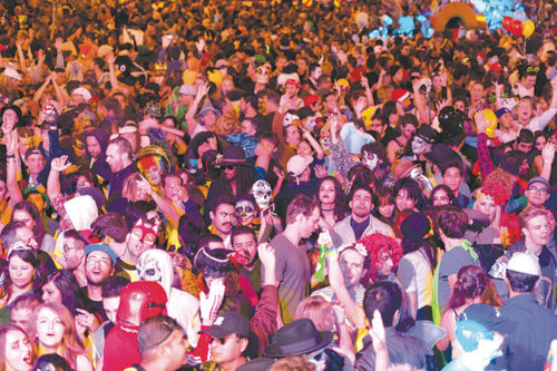Authorities said the massive crowd at the West Hollywood Halloween Carnaval was well-behaved, and only four people were arrested. (photo by Jon Viscott)