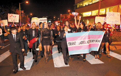 The city of West Hollywood celebrated Transgender Day of Remembrance last year to raise awareness of hate crimes against trans people. (photo by Gregory Cornfield)