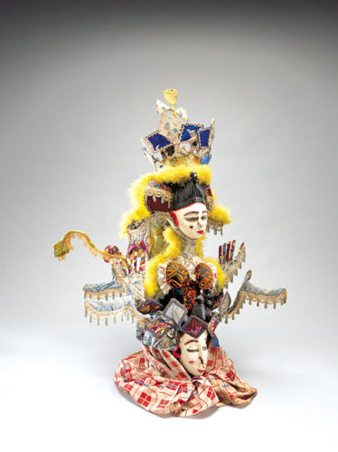 A masquerade headdress by an unknown artist . (photo courtesy of the Fowler Museum at UCLA)