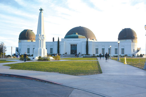 Numerous attractions are located in Griffith Park, including the Griffith Observatory (pictured), the L.A. Zoo, Autry Museum of the American West, a merry-go-round and train ride. (photo by Patricia Sanchez)