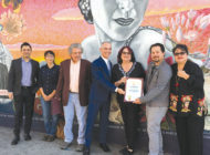 Mural restoration celebrated on Hollywood Boulevard